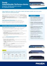 Panda GateDefender Performa 9500 A3GDP9DPTP Leaflet