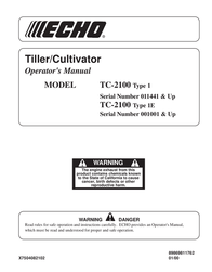 Echo TC-2100 User Manual