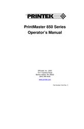 Printek 850 Series User Manual