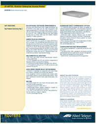 Allied Telesis MODULARER ROUTER AT-AR720 AT-AR720 Leaflet