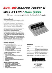 Monroe 3180 Specification Guide