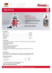 Kress 1200 NTX EA 06310301 Leaflet