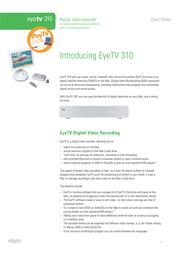 Elgato EyeTV 310 SAT TV 10010313 Data Sheet