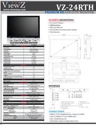 ViewZ VZ-24RTH Leaflet