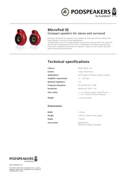 Scandyna MicroPod SE MICPSER10903 Merkblatt