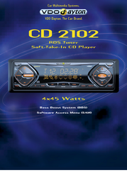 Dayton CD 2102 RDS Tuner / Soft-Take-In CD Player CD2102 Leaflet