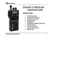 Midland 75-822 User Manual