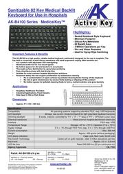 Active Key AK-B4100 AK-B4100-UV-B/CH Leaflet