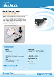 AirLive CAR-100USB Leaflet