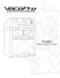 Vocopro SUMO DIGITAL KARAOKE SYSTEM User Manual