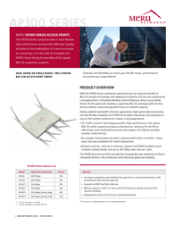 Meru AP301 Leaflet