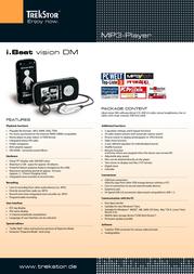 Trekstor i.Beat vision DM 1 GB 72010 Leaflet
