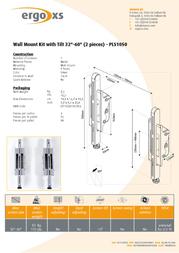ErgoXS Wall Mount Kit with Tilt - 2 pieces PLS1050 Leaflet