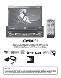 "Dual DVD Receiver 7"" LCD XDVD8181 User Manual"