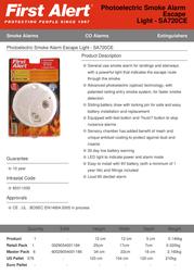 First Alert SA720CE Leaflet