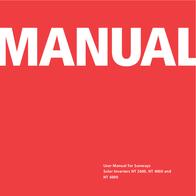 Sunway NT 4000 User Manual