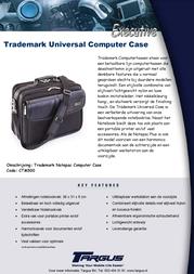 Targus Trademark Universal Computer Case CTM500 Leaflet