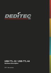 Deditec USB-TTL-64 Data Sheet