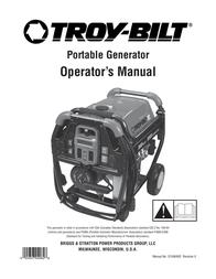 Troy-Bilt 7000 Watt XP Series Portable Generator User Manual