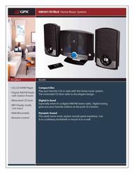 GPX HM3817DTBLK Leaflet