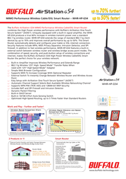 Buffalo MIMO Performance Wireless Cable/DSL Smart Router WHR-HP-G54-1 Leaflet