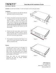 Oppo RMK-UDP203 Owner's Manual