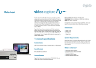 Elgato Video Capture 1VC108601000 Data Sheet