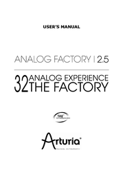 Arturia 2.5 User Manual