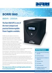 Borri B60 1.5kVA B60-1500 Leaflet