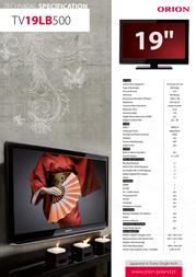 Orion TV19LB500 Leaflet