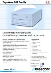 Freecom TapeWare DAT-24 DDS-3 external Kit 12664 Leaflet