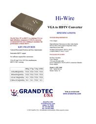 GrandTec Hi Wire GHV-2000 Leaflet
