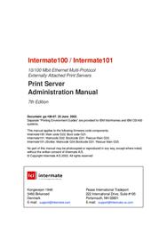 Intermate 100 User Manual