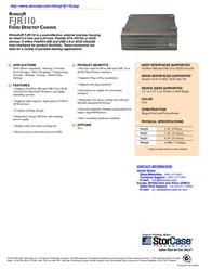 "StorCase Rhino®JR FJR110 1-Bay, 3.5"" HH, FW800+USB 2.0/PATA, (1) Channel, 34W/40Wp, No Drives, Gray S35F100 Leaflet"