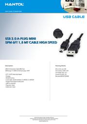 Hantol USB A/USB mini B 1.8m CCUA5P-02M Leaflet