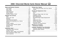 Chevrolet Monte Carlo 2006 User Manual