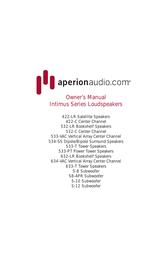 Aperion Audio intimus 4t User Guide