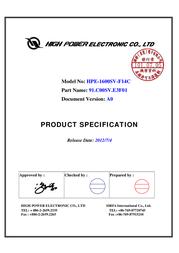High Power RP-1600 Pro HPE-1600SV-F14C User Manual