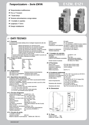 Tele 110200 Time Delay Relay, Timer, 1 CO contact 12 - 240 V DC/AC 110200 Data Sheet