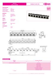 Econ Connect M8L8G1, Pin RJ45 Socket, horizontal mount Metal M8L8G1 Data Sheet