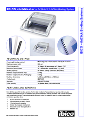 Ibico clickMaster IB270075P Leaflet