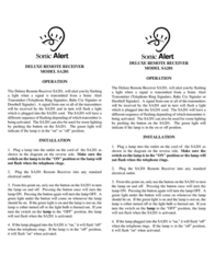 Sonic Alert SA201 Leaflet