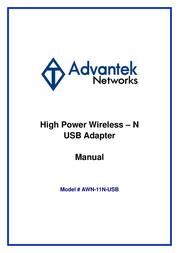 Advantek Networks Advantek AWN-11N-USB User Manual