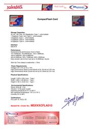 takeMS Compact Flash 2Gb MS2048CFLA010 Leaflet