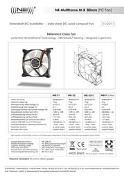 Noiseblocker MF8-S1 NB-MF8-S1 Leaflet