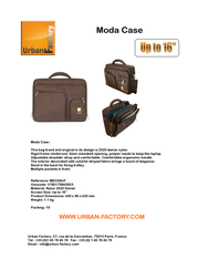 Urban Factory MDC06UF Leaflet