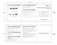 Macally 4Porthub Usb 2.0 Hi-Speed 4 Port Hub 4PORTHUB Leaflet
