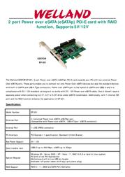 Welland EP-211 EP-211-N014-1-H128G Leaflet