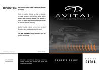 Avital 2101L Owner's Manual