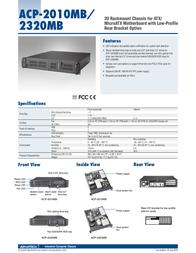Advantech SYS-2U2320-4U52 Leaflet